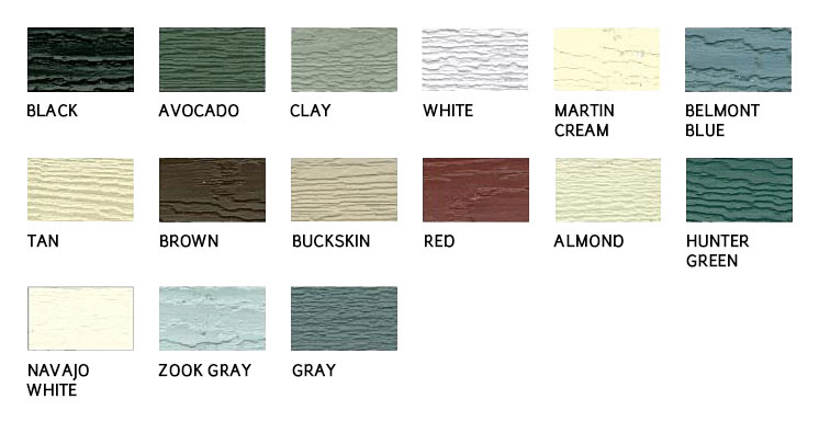 Siding trim classic garden structures for Lp siding colors